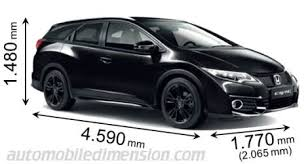 length of a honda civic dimensions of honda cars showing length width and height