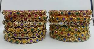 multi color stone bracelet images Indian multicolor stone silk thread bangle buy handmade thread jpg