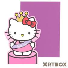 buy sanrio hello kitty princess die cut stand up greeting card at
