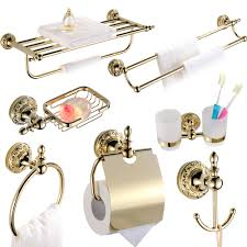 Gold And Silver Bathroom Accessories Online Get Cheap Gold Brass Bathroom Accessories Aliexpress Com