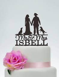 fireman wedding cake topper wedding cake topper mr and mrs cake topper with surname fireman
