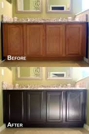 how to restain wood cabinets darker 4 ideas how to update oak wood cabinets dark stains java and dark
