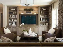 Craftsman Built Ins Family Room Traditional With Brown Leather - Family room built in cabinets