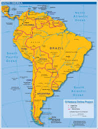 map of south america south america map brazil