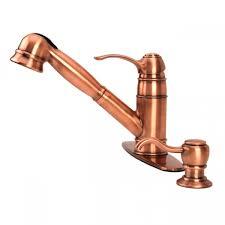 copper kitchen faucets fontaine ff clsk4 ac classique kitchen pull out faucet antique
