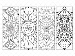 printable bookmarks coloring page set 1 instant download