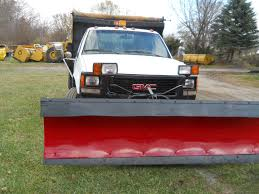 Dodge 3500 Dump Truck With Plow - 1994 gmc 3500hd 3 5 yard dump truck w 8 1 2ft meyers snow plow