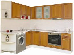 Washing Machine In Kitchen Design Kitchen Modest Kitchen Interior With Veneer Cabinet Doors Also