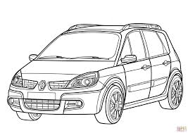 renault scenic coloring free printable coloring pages