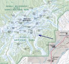 denali national park map denali national park partial photos diagrams topos summitpost