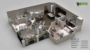 classic 3d floor plan visualization residential yantram