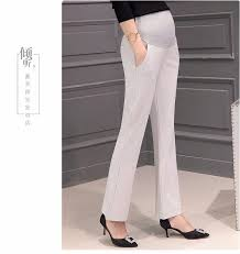 maternity work trousers new high waist maternity for work plus size flare trousers