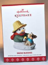 hallmark keepsake 2017 snow buddies snowman and pig ebay