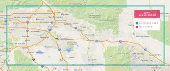 San Bernardino County Map Lyft Comes To San Bernardino Working Promo Code Inside