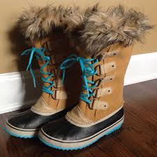 sorel womens boots size 9 joan of arctic curry turquoise blue boot size 9m