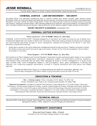 Recommended Font For Resume Criminal Justice Resume Examples Government Resumes Livecareer