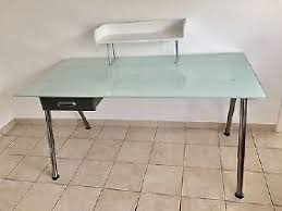 table de bureau en verre amusant bureau en verre ikea plateau table plaque trempe beraue
