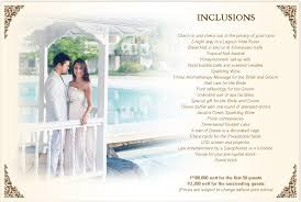 Wedding Packages Prices Plantation Bay Resort And Spa Cebu Resort Hotel Wedding