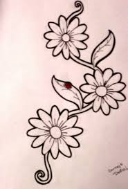 Ladybug And Flower Tattoos - ladybug on yellow flower tattoo design photos pictures and