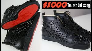 christian louboutin 1000 dollar trainers unboxing mens fashion
