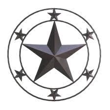 impressive large texas star wall decor barn star rust turquoise