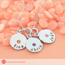 Necklace Engraving Family Necklace Personalized With Engraving And Swarovski