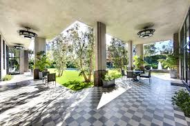 Patio Tile Flooring by Covered Patio Lanai Checkered Stone Floor Gray White Art Deco