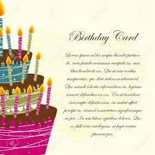 Invitation Card Birthday Birthday Card With Cake Over Beige Background Royalty Free
