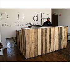 magnificent diy reception desk build a reception desk youtube
