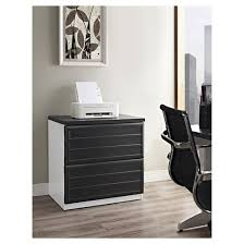 File Cabinets At Target by Pursuit Lateral File Cabinet White Gray Ameriwood Home Target