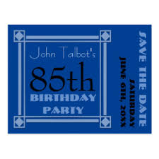 birthday save the date postcards zazzle