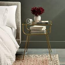 bedside table curved terrace bedside table west elm au