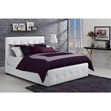 dhp florence white upholstered full bed free shipping today