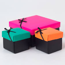 gift boxes pink orange green gift boxes set of 3 only 99p