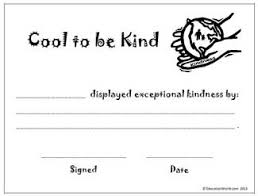 templates for award certificate printable cool to be kind award certificate education world