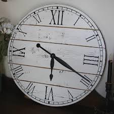 22 inch rustic wall clock large wall clock distressed clock