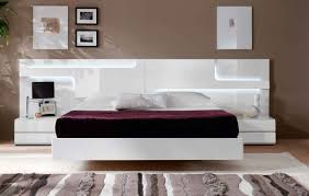 bedroom decoration trendy white wooden low profile beds with