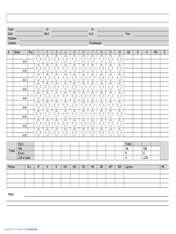 score sheet template 158 free templates in pdf word excel download