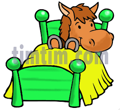 Drawing Of A Bed Free Drawing Of Horse Bed From The Category Farm Animals U0026 Ranch