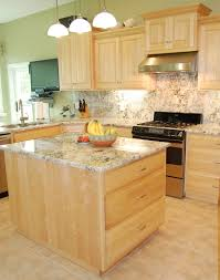 Kitchen Cabinets With Glass Tile Countertops Light Maple Kitchen Cabinets Lighting Flooring