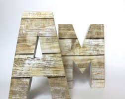 rustic home decor distressed letters wooden letters