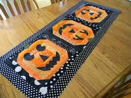 Halloween Material Fabric Ribbon Candy Quilt Company Jack O Lantern Fun