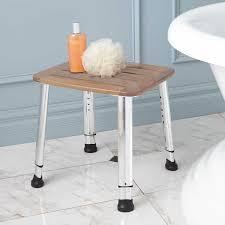 Wood Shower Stool Shower Stool Signature Hardware