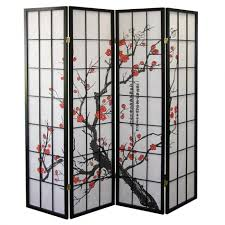 Canvas Room Divider Furniture Lovely Japanese Black And Canvas Room Divider With