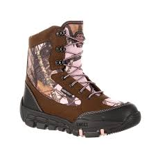 womens boots tex rocky tex waterproof insulated camo outdoor boot