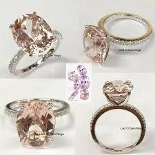 morganite engagement ring white gold custom morganite engagement rings wedding rings logr lord of