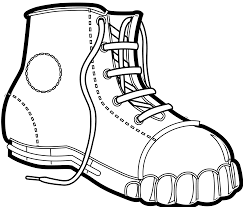hd clipart black and white hiking boots image