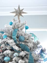 moravian tree topper white blue christmas tree centsational style
