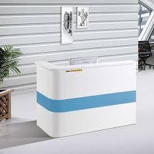bureau d accueil bureau d accueil simple blanc avec 03 tiroirs bureau fourniture de