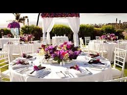 Hawaiian Wedding Table Decorations